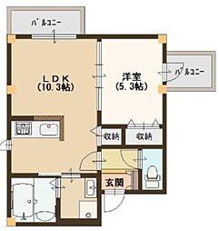 阪神本線 淀川駅 徒歩5分の賃貸マンション 1階1LDKの間取り