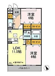 D-room大庭[3階]の間取り