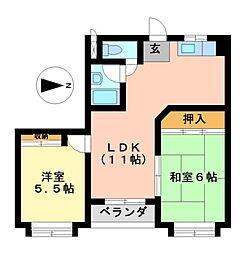 第1菊屋ビル[2階]の間取り
