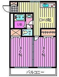 将田ハイツ[2階]の間取り
