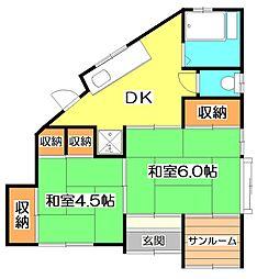 東京都練馬区大泉町6丁目の賃貸アパートの間取り