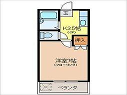 栃木県宇都宮市下戸祭2の賃貸アパートの間取り