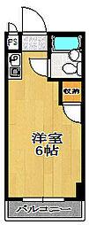 ユニコーン82'西野[3階]の間取り