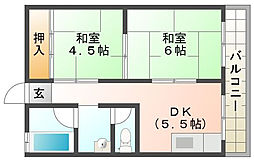 マンションサンプラザI[4階]の間取り