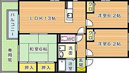 ヴィラコンフォートI A棟[1階]の間取り