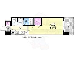 広島電鉄5系統 比治山橋駅 徒歩4分の賃貸マンション 3階1Kの間取り