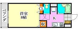 リアルジョイ津田沼弐番館[1階]の間取り
