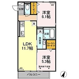 仮)D-room見付I期[2階]の間取り