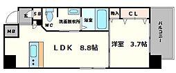 アバンティ南堀江ウエスト[2階]の間取り