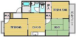 エクセルコートK[2階]の間取り