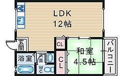 穂積アパートメント1[2階]の間取り