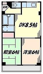 クレールハイツ[3階]の間取り