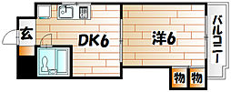 VIP浅野[2階]の間取り