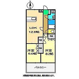 フローラル・アベニュー壱番館[2階]の間取り