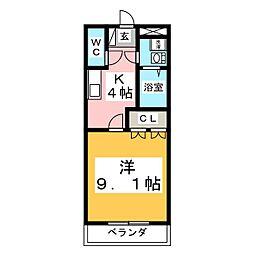 茨城県水戸市住吉町の賃貸マンションの間取り