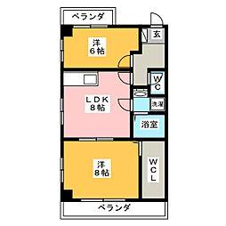 アーバンハイツ立花[6階]の間取り