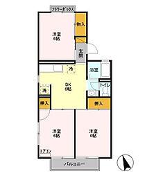サンVパークIII[1階]の間取り