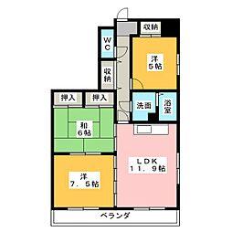 コスモス覚王山[2階]の間取り