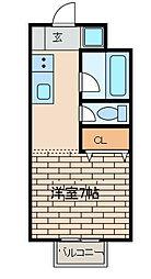 メゾンパークス[1階]の間取り