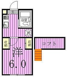 ジュネパレス松戸第141-B[201号室]の間取り