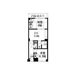 メゾンWAT[4階]の間取り