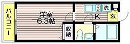 ガウディ12[103号室]の間取り