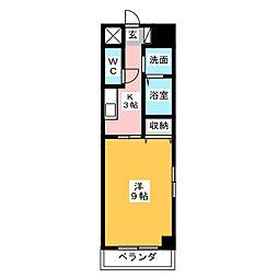 メッセミサキ元浜[5階]の間取り
