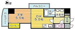 THE SQUARE・Club Residence (ザ・ス[206号室]の間取り