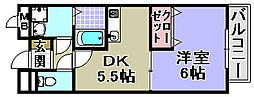 ガーデンホーム21[303号室]の間取り