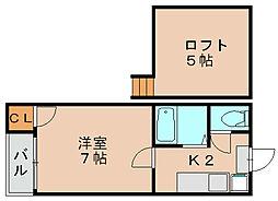 シュノンソー博多[1階]の間取り