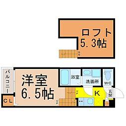 ハーモニーテラス元八事Ⅱ[2階]の間取り