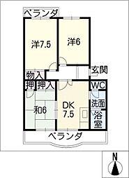 エステイタスKHー1[4階]の間取り