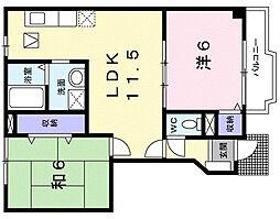アルティナ・ガーデン[1階]の間取り