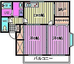 グリーンハイツ松澤[201号室]の間取り