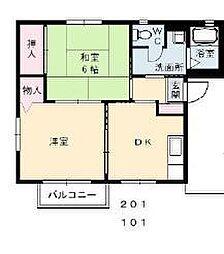 ヴィラ A棟[2階]の間取り