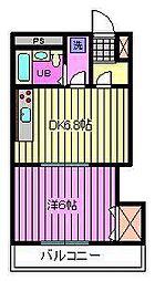 松本マンション[305号室]の間取り
