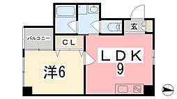 坂元町OMORIビル[604号室]の間取り