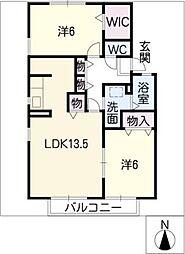 カーサ・コモドA棟[1階]の間取り