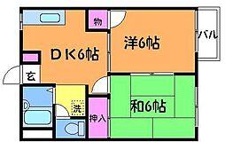 コーポ相沢A[2階]の間取り