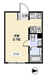東京都大田区南千束3丁目の賃貸マンションの間取り