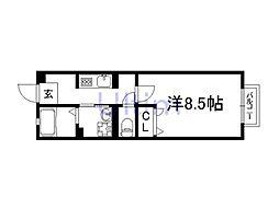 京都府京都市伏見区深草西伊達町の賃貸アパートの間取り
