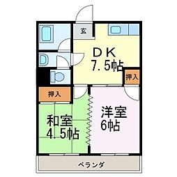 ファミール千代田[2B号室]の間取り