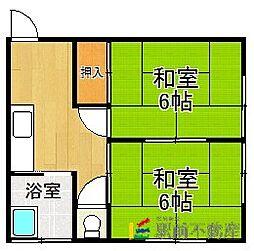 矢野アパート[2階]の間取り