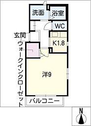 ジュネスMeiwa[2階]の間取り