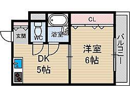 クリスタルシャトー[1階]の間取り