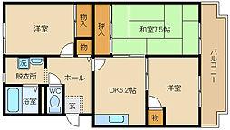 桐朋ハイツ[305号室]の間取り