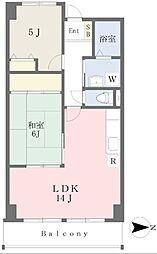 メゾンサンテ5階Fの間取り画像