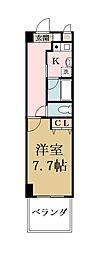 プランドール雅ビルII[4階]の間取り