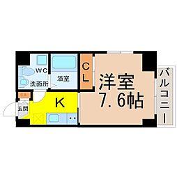 愛知県名古屋市中川区高畑4丁目の賃貸マンションの間取り