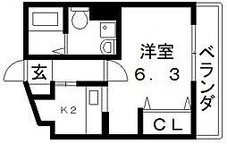 Celeb布施東[508号室号室]の間取り